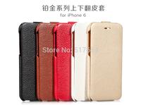 5Pcs/Lot Brand Original HOCO Platinum Series Genuine Leather Retro Flip Case For iPhone 6(4.7inch) +Packaging+ Free shipping