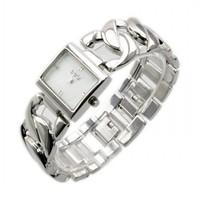 2014 New Women Square Diamond Bracelet Style Wrist Quartz Analog Watch 86005