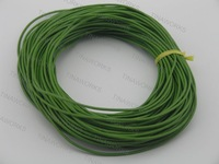 FREE SHIPPING 100m Irish Green Real Leather Necklace Cord/String Without Clasp 1.5mm