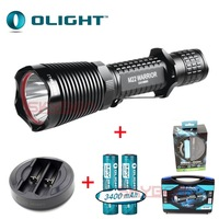 Olight M22 LED Tacticle Flashlight w/ 2*3400mAh Batteries&OMNI Dok,New Packaging
