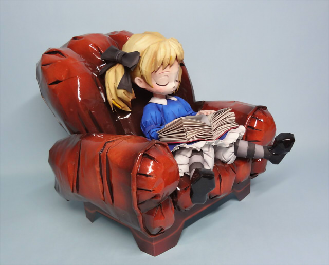 Full funny toys-- Odin Sphere - Alice --3D paper model DIY(China (Mainland))