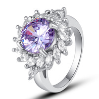 Charming Tourmaline 925 Silver Ring Size 7Jewelry For Women New Year Gift Free Shipping Wholesale