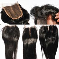 Best Quality Straight Brazilian Lace Closure Bleached Knots 4*4 Brazilian Virgin Hair Lace Closure Free Part