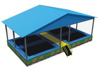 4 beds trampoline with roof