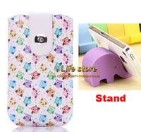 Eiffel Tower Case Leather Case Strap Case Belt Clip Case+2 pcs Phone Stand  For HTC Desire Eye M910X