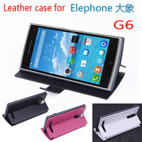 In stock!For free shipping ! Elephone G6 leather case , flip cover PU for Elephone G6 smart phone