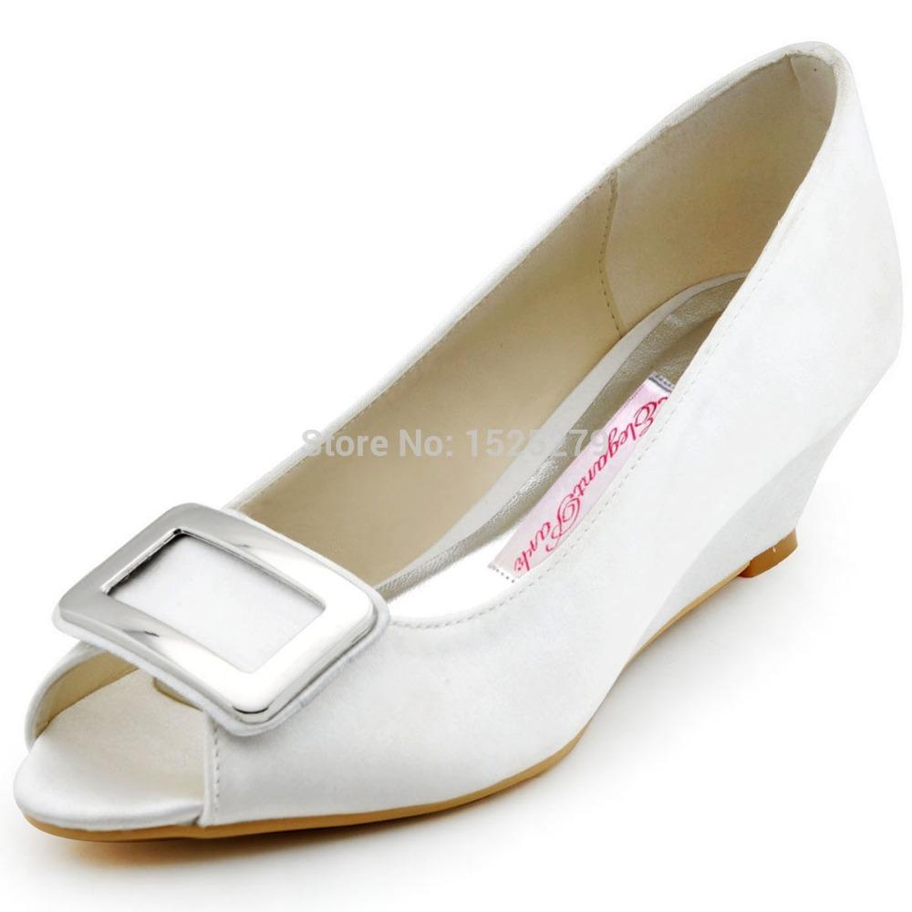 White Wedge Heel Bridal Shoe Promotion Online Shopping For Promotional White Wedge Heel Bridal