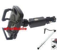 Dual USB Car Charger Car Lighter Mobile Phone Holder +Stylus Pen For HTC Desire Eye M910X