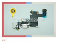 10PCS  Original  WHITE~  Charging Port Flex Cable Microphone Headphone Jack parts For apple 6  4.7 Part  Free Shipping