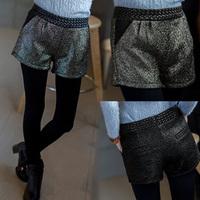 * Panda * 2014 Autumn Korean Slim thin wild flash gold casual shorts pants