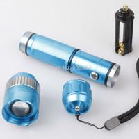 Waterproof CREE XM-L T6 3Modes 1000LM LED Flashlight Suit blue