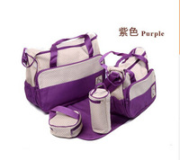 Free shipping (Buy one get five )One Set Mother Bags Baby Diaper Stroller Bags for Mom high quality baby Bags mummy bag