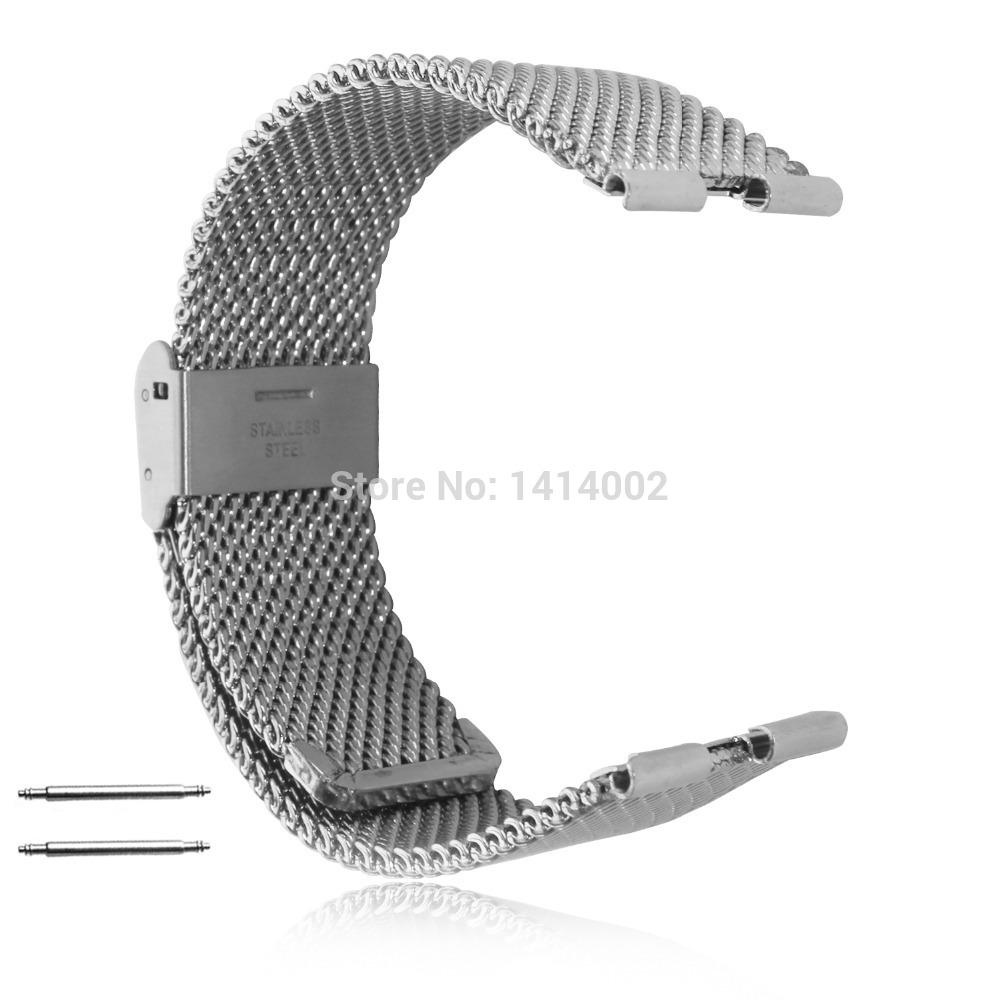 Novo bloqueio em tipo de Moto 360 relógio inteligente de aço inoxidável faixa de relógio de malha de Metal faixa de relógio pulseira de prata ferramenta grátis(China (Mainland))