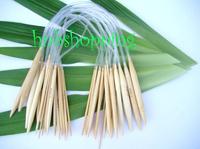 Free Shipping 40cm Circular Bamboo Knitting Needles Sweater Needles Set 18 Size 0400-007