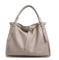 Free shipping women's genuine leather handbag fashion rivet first layer of cowhide formal messenger shoulder tote bag