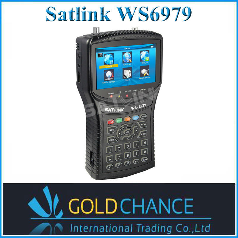 Satlink WS6979 DVB-S2&DVB-T2 With Spectrum Analyzer Constellation Satellite Meter Finder Combo Digital Satellite Finder Meter(China (Mainland))