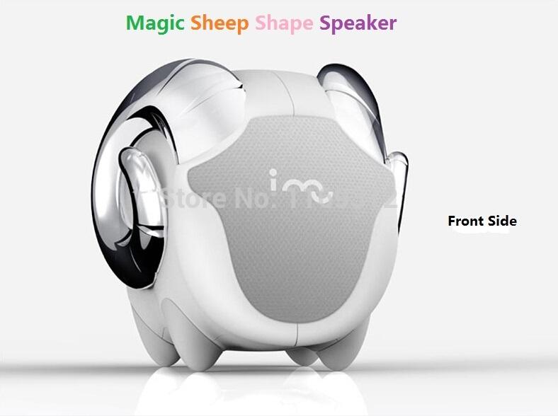 Hot Sale Fashion Gift Original I-MU Boutique Mini laptop Speaker i-sheep Music Player Portable Creative Animal Shape Speakers(China (Mainland))