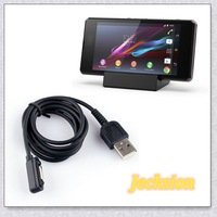 Popular Magnetic USB Cable + Desktop Charging Adapter for Sony Xperia Z2 Z1 L39h Z1 mini Tonsee8