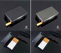 Automatic smoke cigarette case, DIY customized personalized cigarette case! 10 filter business gift laser logo  metal box holder