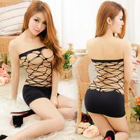 Personalized jacquard one piece fishnet stockings charming slim hip short skirt mesh seamless sexy net 2016