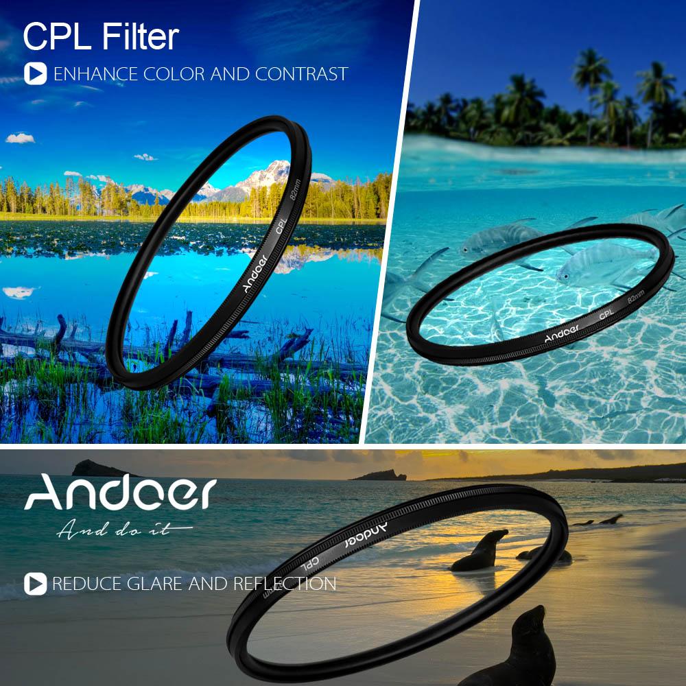 Andoer 52mm Digital Slim CPL Circular Polarizer Polarizing Glass Filter for Canon Nikon Sony DSLR Camera Lens(China (Mainland))