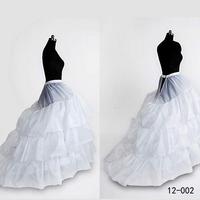 2014 Cheap Petticoat Underskirt Crinoline For Wedding Dresses In Stock 3-Hoop 4-Layer White Long Petticoat For Bridal Gown