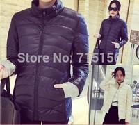 Fashion 2014 New Down Short Design Winter Women female Coat Cotton-padded Jacket Women Slim Solid Zipper Jacket Outerwear Women