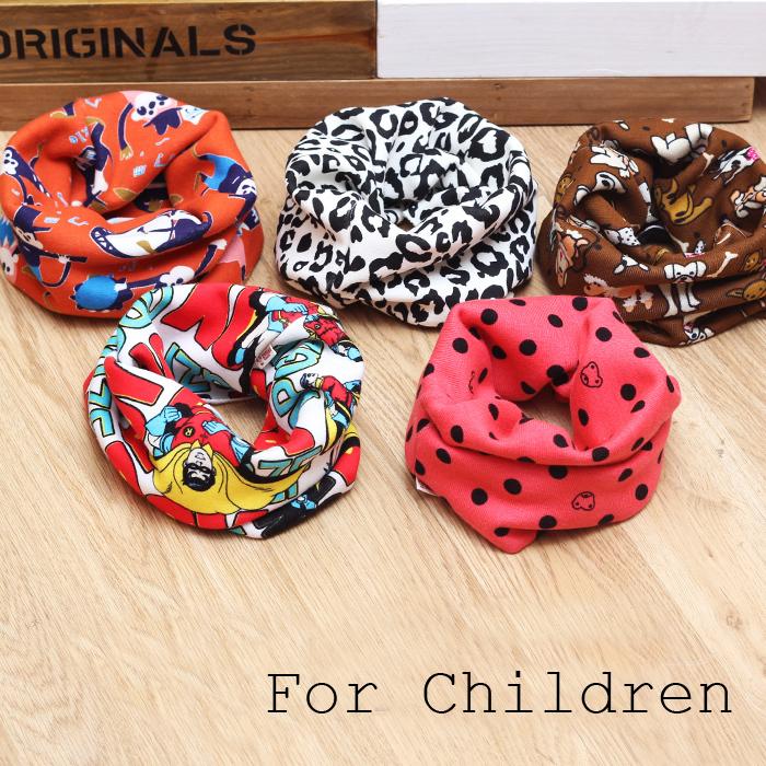 BIG Warmer 2014 Warmer Designers Kids Girl Boy Cravat Cartoon Owl Leopard Bib Scarf Children Cotton