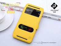 Brand New Smart Cellphone Case, Touch window open Flip Cover case For HTC ONE 802W 802T 802D Dual Sim Cards Free shipping