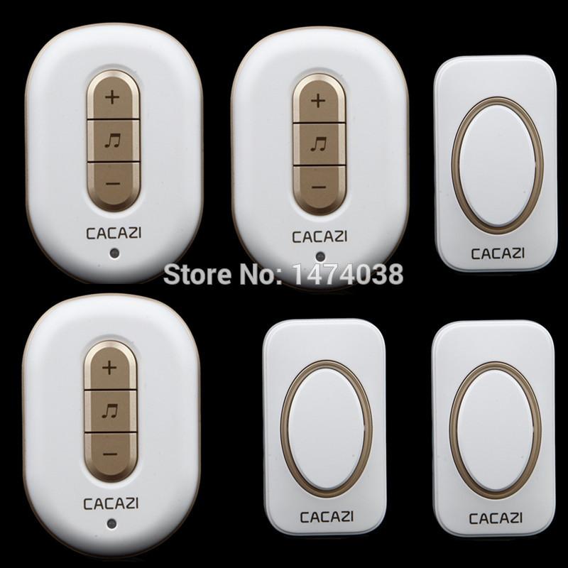 2014 new model 3 Receivers+3 transmitters waterproof wireless door bell 220V 48 musical tones wireless doorbell Gate Ring(China (Mainland))