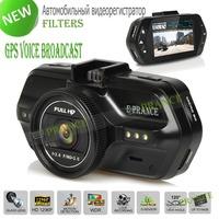 Original E-prance CR700 Car Camera DVR Ambarella A7LA50 OV4689 Super HD 1296P Video Recorder Dash Night Vision GPS Logger Filter