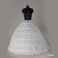 2014 New In Stock White Ball Gown Petticoat For Wedding Dresses 1-Hoop 6- Layer Underskirt  Crinoline For Ball Dresses