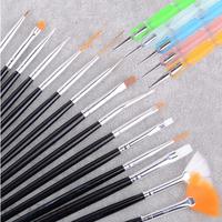 20pcs Professional Nail Art Styling Tools Acrylic Nail Brush Set Design Nail Art Painting Draw Brush Dotting Pincel De Unha P