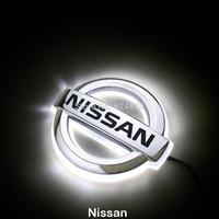 LED Car Tail Logo White light for Nissan Tiida Auto Badge Light