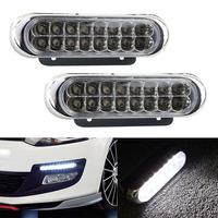 Popular 2 x 16 White LED 12V Car Daytime Warning Running Driving DRL Fog Light Tonsee8