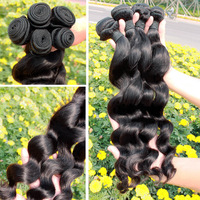 """Loose Wave 100% Brazilian Virgin Human Hair Weft 8""""-30 inch Remy Queen Hair Products Cheap Price Grade 5a  3pcs/lot Mix Order"""