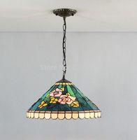 Retro Tiffany Style Stained Glass Of Modern Art Handmade Chandelier Bedroom Lamp Shade Kitchen Decor Lighting