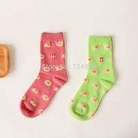 Novelty Poached Eggs Pattern Cotton Creative Socks Women Men Socks Couple Unisex Socks 2 pairs 52277