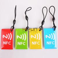 1 sets 4 pcs Smart NFC Tags NFC Glue card Ntag203 Universal for Samsung Note3 Galaxy S4 Lumia Nexus HTC BlackBerry