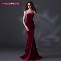 Cii 2015 new evening slim skinny hosts wine red women toasting evening dress bridal wedding dress floor length dinner dress