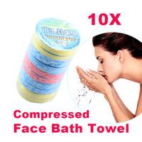 Hot Sale 10pcs Magic compressed travel face towel NEW C  #W7Tn