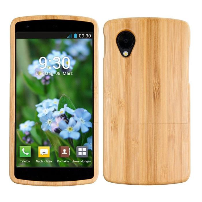 2015 Hot sale original de bambu Natural de madeira madeira Case capa da pele para LG Google Nexus 5 Jecksion(China (Mainland))