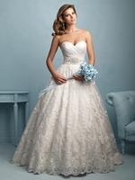 2015 Sweetheart Lace Wedding Dress Chapel Train Bridal Gown Bride Dresses Custom Size 2 4 6 8 10 12 14 16 18 20++