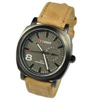 Luxury Brand CURREN Military Men's Watch 2014 Quartz Men Watches Fashion Analog Genuine Leather Wristwatches Relogio Masculino