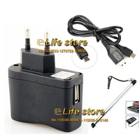 EU Charger AC Wall Charger Travel Charger Mobile Charger +USB  Data Cable +Stylus For HTC Desire Eye M910X