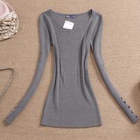 Brand new 2014  Hot-selling basic shirt fashion all-match slim casual  women's sweater  free  shipping