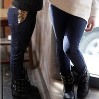 Free shipping 2014 new child pencil pants /baby girl's long trousers/ winter jean pants
