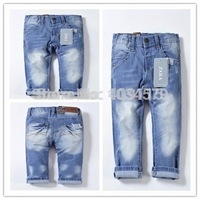 Hot sale 2014 hot children 's jeans cotton Denim kids jeans boys girls pants baby trousers