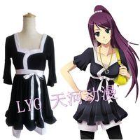Free shipping  Bakemonogatari Monstory Cos cosplay  Senjougahara Hitagi cosplay black summer clothes