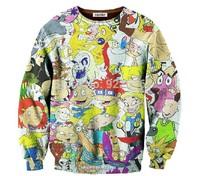 2014 New fashion women/men novelty funny printed Many cartoons 3D Hoodies sweaters Galaxy sweatshirts